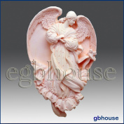 Angel of Conception - Lailah - Detail of High Relief Sculpture - Silicone Soap/polymer/clay/cold Porcelain Mould