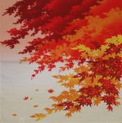 Furoshiki Wrapping Cloth Maple Leaves in Autumn Motif Japanese Fabric 50cm