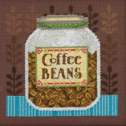 Coffee Beans Beaded Counted Cross Stitch Kit Mill Hill 2016 Debbie Mumm Good Coffee & Friends DM301616