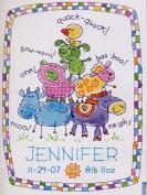 Cute Animal Birth Certificate Cross Stitch Kits,dmc Thread,14ct ,113x154stitch,31x38cm Counted Cross Stitch Kit
