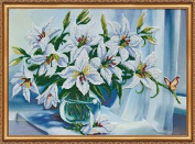 """Beaded DIY Embroidery Kit """"Madonna lilies"""""""