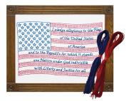 Jack Dempsey Needle Art Pledge of Allegiance Sampler Kit