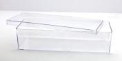Clear Plastic Box - 24cm L x 9cm W x 5.7cm H - 4 Boxes Per Pack