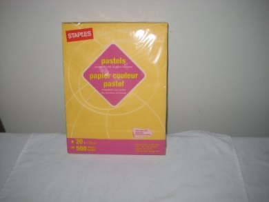 Pastel Paper Compatible with All Office Machines, Colour: Dark Yellow, 500 sheets, 9.1kg
