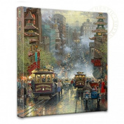 San Francisco, California Street - Thomas Kinkade 36cm x 36cm Gallery Wrapped Canvas