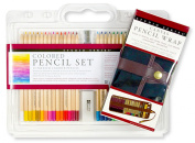 Coloured Pencil Canvas Wrap Value Pack