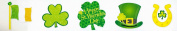 Nantucket Home St Patricks Day Glitter Cutouts 5 Pack, 30cm x 30cm Each