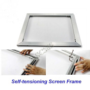 New Self-tensioning Screen Frame Aluminium Material without Glue Stretch ANY Size DIY(Item#219304)