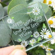 Spaceform Miniature Token Happy Birthday Mum Daisies 1990