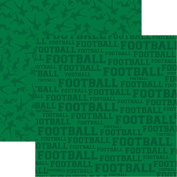 Reminisce - Football Scrapbook Papers Football - 5pcs