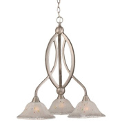 Cambridge 3-Light Brushed Nickel 50cm . Chandelier with Frosted Crystal Glass