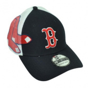 MLB New Era 39Thirty Boston Red Sox Double Mesh Flex Fit Medium Large Hat Cap