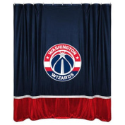 NBA Washinton Wizards Shower Curtain Basketball Team Logo Bathroom Accent