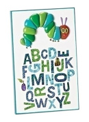 Roman 18cm Tall Alphabet Table Plaque from The World of Eric Carle, Featuring The Letters of The Alphabet and a Caterpillar That is Relief