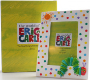 Roman 20cm Tall 4 X 6 White Photo Frame with Polka Dots Featuring A Caterpilla From The World of Eric Carle
