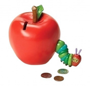 Roman 11cm From The World of Eric Carle, Featuring The Very Hungry Caterpillar Coming Out of An Apple bank, 11cm Tall