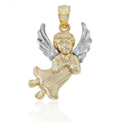 Gold Baby Angel Charm, 14k Solid Gold