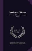 Specimens of Prose