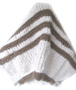 KSS Handmade Striped Blanket in Neutral Colours Newborn and up