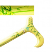 Hand Painted Wood Cane With Derby Handle