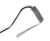 AlexOrthopedic Mobility Support Bariatric Offset Adjustable Aluminium Cane Foam Grip Handle Silver