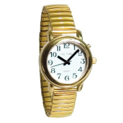 Tel-Time Talking Auto-Synchronising Watch- Gold