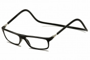 CliC Executive Reading Glasses Magnetic Front Connect; Black