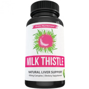 Milk Thistle Supplement for Natural Liver Support - DETOX ▫ CLEANSE ▫ MAINTAIN - Extract & Seed Powder Complex for Maximum Benefits - Powerful Antioxidant - Standardised Silymarin Content