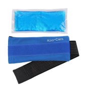 Koo-Care Flexible Gel Ice Pack & Wrap with Elastic hook and loop Strap for Hot Cold Therapy