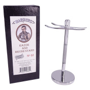 Barbero Deluxe Stainless Steel Razor and Brush Stand No.02