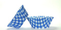 50pc Gingham Design Blue Standard Size Cupcake Baking Cups Liners Wrappers