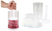 Mini Hamburger Press w/ 8 Dividers to Shape Perfect Burger Patties