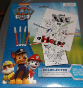 Nickelodeon Paw Patrol Colour In Fun - Markers and 2 Colouring Sheets