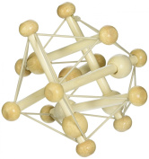Wood Construction with Elastic Ties Rattle & Teether