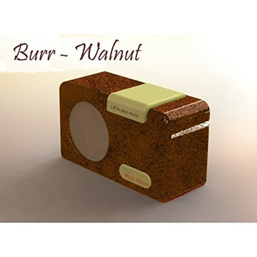 The Simple Music Player - MP3 music box for Alzheimer's and dementia -  Walnut Colour