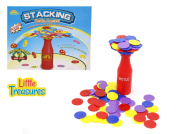 Little Treasures Bottle Balancing Game with Plastic Stacking Coins for Kids Ages 6+