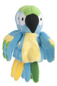 Blue Yellow and Green Parrot Finger Puppet - By Ganz