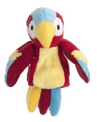Red Yellow and Blue Parrot Finger Puppet - By Ganz