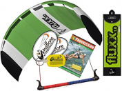 HQ Fluxx 1.8M Trainer Kite TR plus Kitesurfing DVD Bundle (4 items) Includes Progresion Beginner Kiteboarding Instructional DVD + WindBone Kite Lifestyle Decals + WindBone Key Chain : Foil Traction