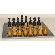WorldWise Imports Midas Marble Chess Set, Gold and Black