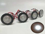 4 Pieces Pactrade Marine Boat LED Livewell Round Button White Courtesy Light OEM Waterproof
