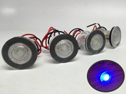4 Pieces Pactrade Marine Boat LED Livewell Round Button Blue Courtesy Light OEM Waterproof