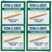 Stim-U-Dent Plaque Removers - Mint - 25 ct - 8 pk