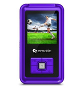 Ematic EM208VIDPR 3.8cm 8GB MP3 Video Player with FM Tuner, Purple by Ematic