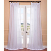 EFF Signature White Double Layer Sheer Curtain Panel