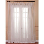 EFF White Doublewide Poly Voile Sheer Panel