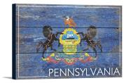 Pennsylvania State Flag - Barnwood Painting