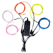 Lychee® 5*1 Metre Neon Light El Wire w/ Battery Pack for Parties, Halloween Decoration