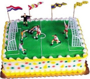Cakesupplyshop Item#98IK - 11Piece Complete Cake Decoration Soccer Set with Goals Post & Players