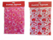 Plastic Valentine Tablecover Size 140cm X 270cm - 1 Count